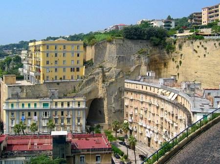 イタリア_ナポリの街並み