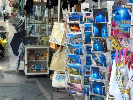 カプリ島マリーナ・グランデの土産物屋