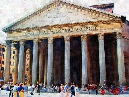 ローマのパンテオン(油絵風)