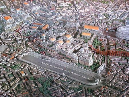 ローマ_ナヴォーナ広場周辺のジオラマ