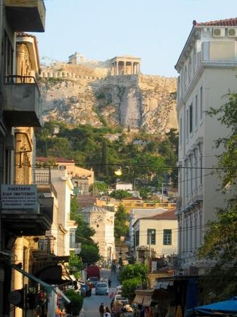 ギリシャ_アテネの街の夕景