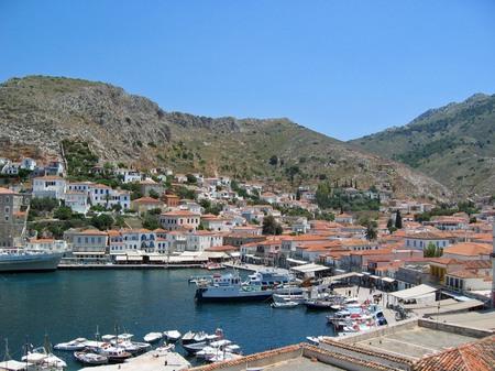 ギリシャ_イドラ島の港