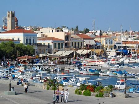 ギリシャ_エギナ島の港