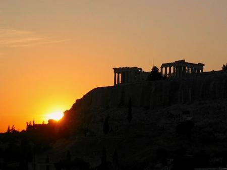 アテネ_アクロポリスの夕景