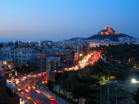 アテネ_アマリアス大通りの夕景