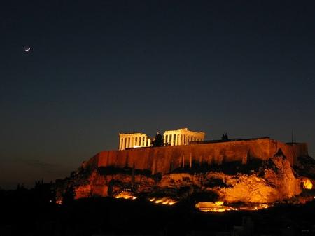 アテネ_アクロポリスの夜景