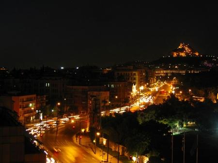 アテネ_アマリアス大通りの夜景