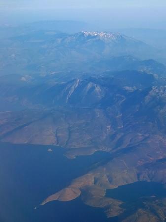 ギリシャ_飛行機からの眺め