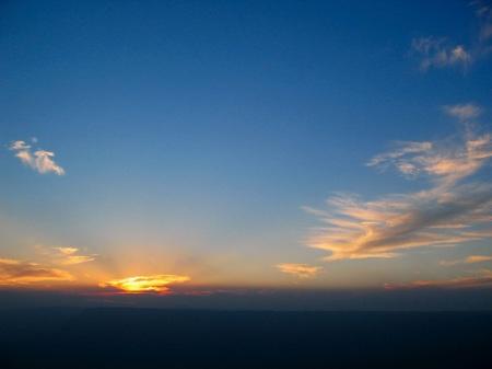 大観峰から見た日没の空