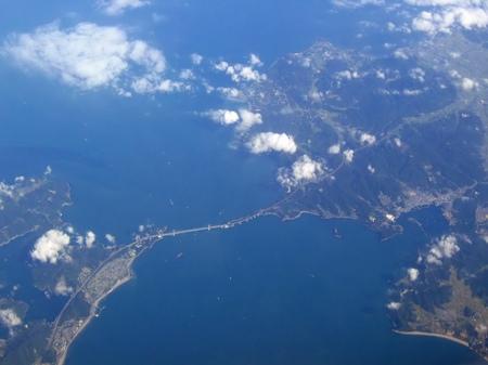 上空から見る鳴門海峡