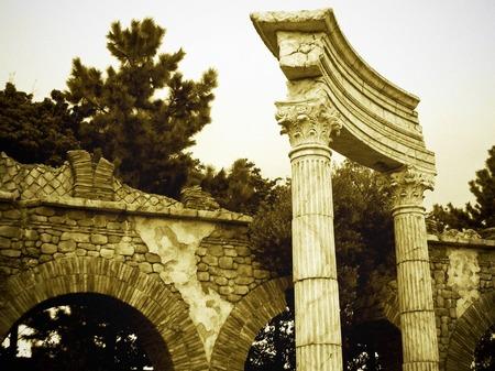東京ディズニーシー_古代ローマの遺跡(セピア調)