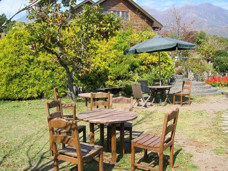 くじゅう花公園のテーブル