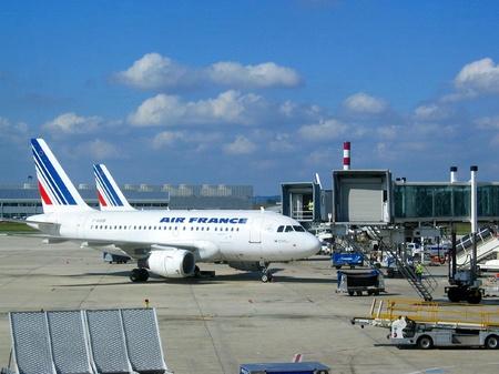 シャルル・ド・ゴール空港_エールフランス機