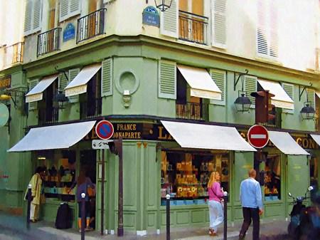パリの老舗パティスリー ラデュレ(油絵風)