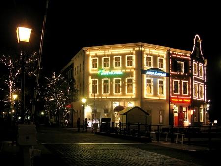 ハウステンボスの夜景_アムステルフェーン