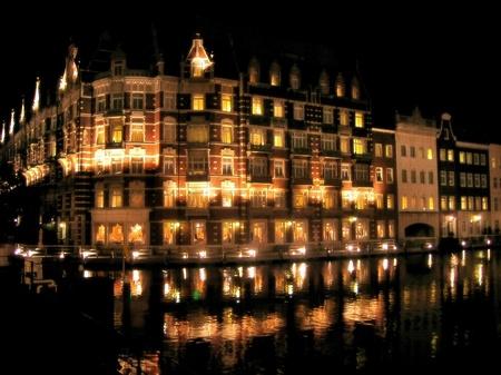 ハウステンボスの夜景_ホテルヨーロッパ