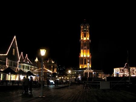 ハウステンボスの夜景_オレンジ広場