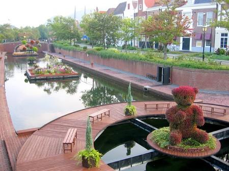 ハウステンボス_朝の運河