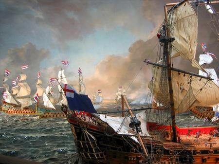 ハウステンボス_帆船博物館のジオラマ