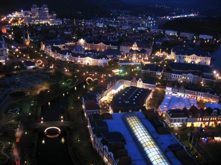 ハウステンボス_展望室からの夜景