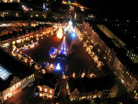 ハウステンボス_アレキサンダー広場の夜景
