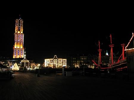 ハウステンボス_夜のオレンジ広場