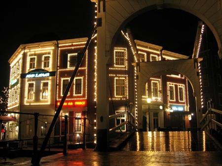ハウステンボス_スワン橋の夜景