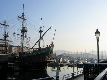 ハウステンボス_朝の帆船デ・リーフデ