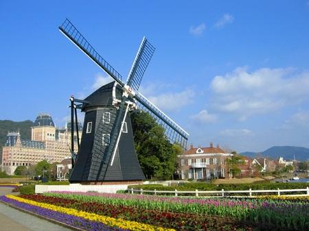 ハウステンボス_キンデルダイクの風車