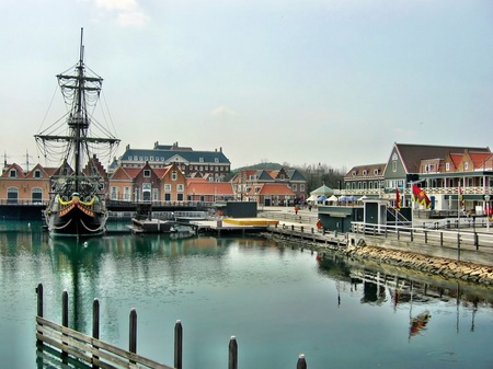 ハウステンボス_アムステルフェーン前からの眺め(HDR風)