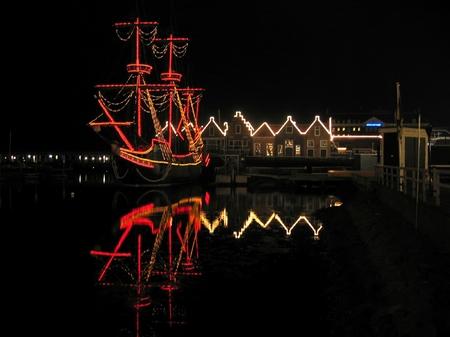 ハウステンボス_夜の帆船デ・リーフデ