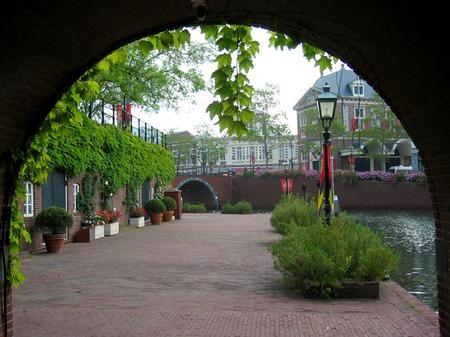 ハウステンボス_ユトレヒトの運河テラスにて