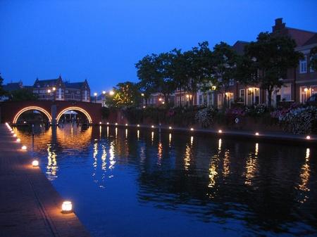 ハウステンボス_暮れゆくシンゲル運河
