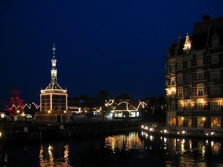 ハウステンボス_エッシャー通りからの夜景