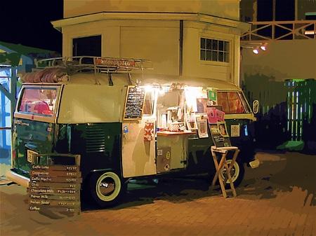 ハウステンボス_移動式カフェ「CAFFEST」(ガッシュ風)