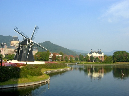 ハウステンボス_キンデルダイクから見る運河
