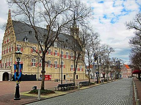ハウステンボス_冬のレンブラント通り(HDR風)