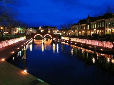 ハウステンボス_薄暮のシンゲル運河