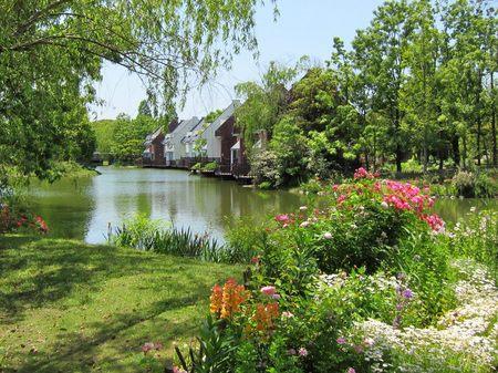 ハウステンボス_5月の湖畔
