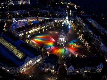 ハウステンボス_ドムトールンからの夜景