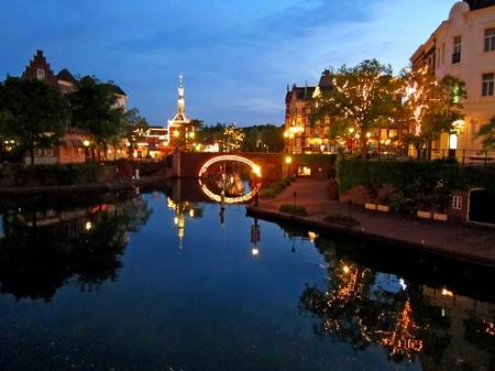 ハウステンボス_トールン橋からの夜景
