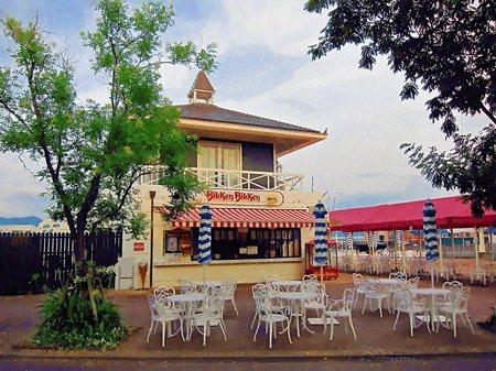ハウステンボス_港町のバーガーハウス「ビッケンビッケン」(油絵風)