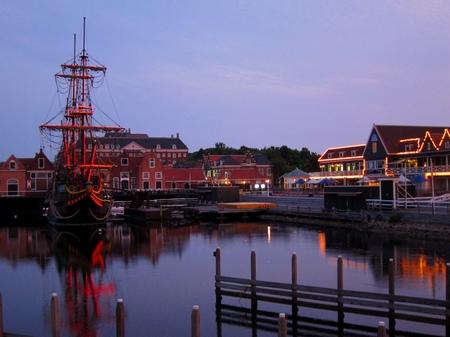 ハウステンボス_夕暮れの帆船デ・リーフデ