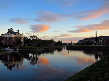 ハウステンボス_夕暮れの運河
