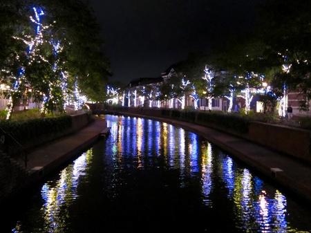 ハウステンボス_夜のアムステル川