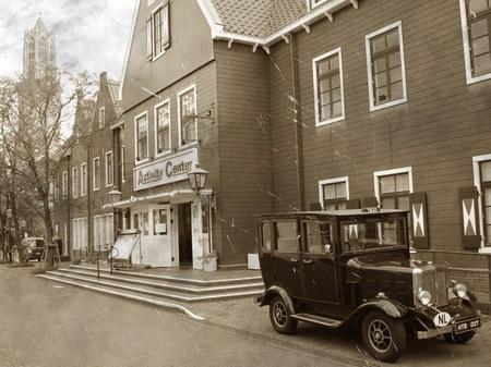ハウステンボス_港町スパーケンブルグの風景(古写真風)
