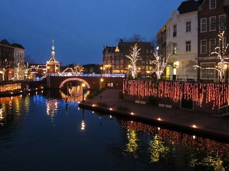 ハウステンボス_シンゲル運河の夜景