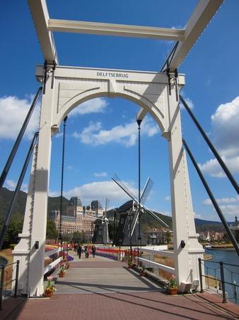ハウステンボス_デルフト橋と風車