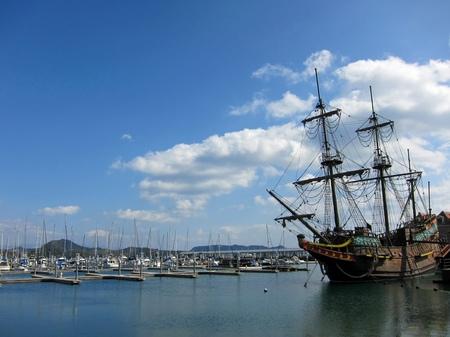 ハウステンボス_マリーナと帆船デ・リーフデ