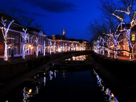 ハウステンボス_アムステル川の夜景